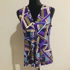 Dana Buchman Multi Color Top